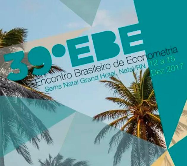 39º Encontro Brasileiro de Econometria
