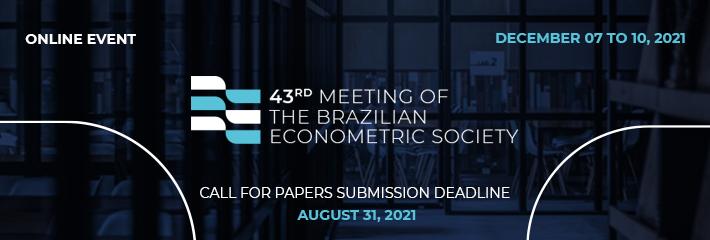 banner: 43º Meeting of the Brazilian Econometric Society